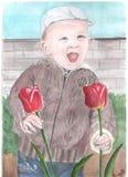 Малый мальчик иллюстрация вектора