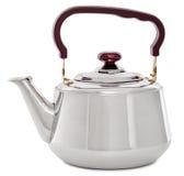 Малый металлический чайник изолированный на белых предпосылке/чайнике с Стоковые Фотографии RF