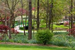 Малый мост в саде Стоковое фото RF