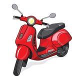 Малый мотоцикл города Стоковая Фотография