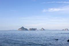 малый остров в море, krabi Таиланд скал Стоковая Фотография