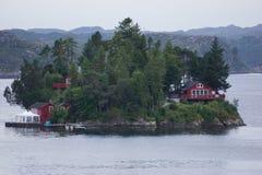 Малый остров около Бергена Стоковые Фото