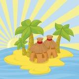 Малый остров Стоковое Изображение