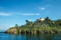 Малый остров Cros порта Стоковое Изображение RF