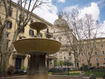 Малый парк в Риме Италии Стоковое Фото