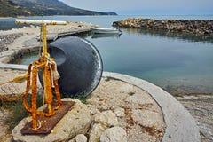 Малый порт перед штормом, Kefalonia, Ionian островами, Грецией Стоковые Фото