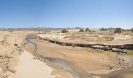 Малый поток идя через оазис пустыни Стоковая Фотография