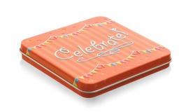 Малый подарок: Изолированная коробка торжества Стоковые Изображения RF