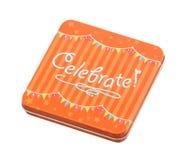 Малый подарок: Изолированная коробка торжества Стоковые Фото
