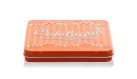 Малый подарок: Изолированная коробка торжества Стоковое фото RF