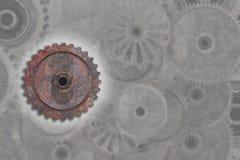 Малый ржавый cogwheel иллюстрация штока