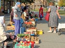 Малый рынок бакалеи улицы Стоковое фото RF