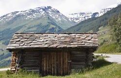 Малый сарай в парке Hohe Tauern, Австрии Стоковое Изображение