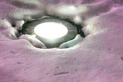 Малый свет на снеге Стоковое Изображение RF