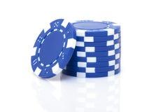 Малый стог голубых обломоков покера Стоковые Фотографии RF