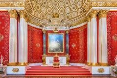 Малый трон Hall, музей обители, Санкт-Петербург, Россия Стоковое Фото
