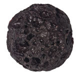 Малый цвета коричнев естественный макрос шарика лавы изолированный на белой предпосылке Стоковое фото RF