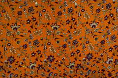 Малый цветочный узор на ткани Стоковое Изображение RF