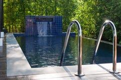 Малый частный бассейн в доме Стоковое фото RF