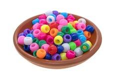 Малый шар глины заполненный с шариками пони Стоковое Фото