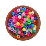 Малый шар глины заполненный с шариками пони Стоковые Фотографии RF