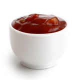 Малый шар condiment сальсы перца томата и красных чилей Iso Стоковая Фотография
