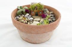 Малый Fairy сад для inddoors или снаружи Стоковая Фотография