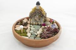 Малый Fairy сад для inddoors или снаружи Стоковые Фото