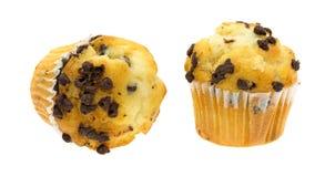 2 малых булочки обломока шоколада Стоковая Фотография