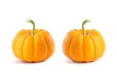 2 малых декоративных оранжевых тыквы Стоковые Изображения RF