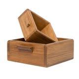 2 малых деревянных коробки Стоковое Изображение