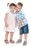 2 малых дет совместно Стоковое фото RF
