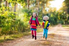 Малыши играя в парке осени Стоковая Фотография RF