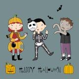 малыши halloween costume иллюстрация штока