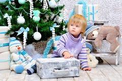 Малыш мечтая о рождестве Стоковое Изображение