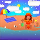 Малыш наслаждаясь летом Стоковое Изображение