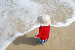 малыш пляжа Стоковое Изображение RF