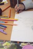 малыш чертежа характера ребёнка изолированный иллюстрацией Стоковое Фото