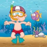 малыш snorkeling иллюстрация штока