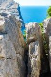 Мальорка, Балеарские острова: Крышка de Formentor увиденное от Mirador c Стоковая Фотография