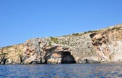 Мальта, живописное место голубого грота Стоковое фото RF