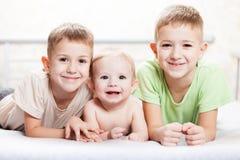 3 мальчика брата Стоковая Фотография