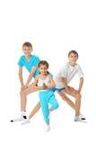 2 мальчика и девушка Стоковая Фотография