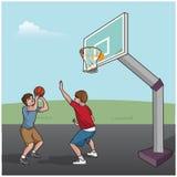 Мальчики баскетбольного матча Стоковая Фотография RF