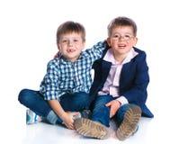 Мальчики в студии Стоковая Фотография RF