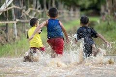 Мальчики сельской местности радостные Стоковые Изображения RF