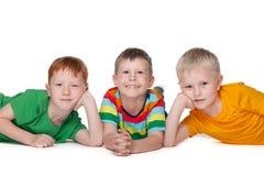 мальчики счастливые Стоковые Изображения RF