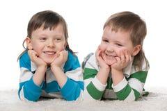 мальчики счастливые 2 Стоковые Фото
