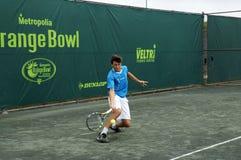 Мальчики шара младшего теннисного турнира оранжевые Стоковые Изображения