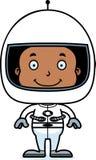 Мальчик астронавта шаржа усмехаясь иллюстрация штока